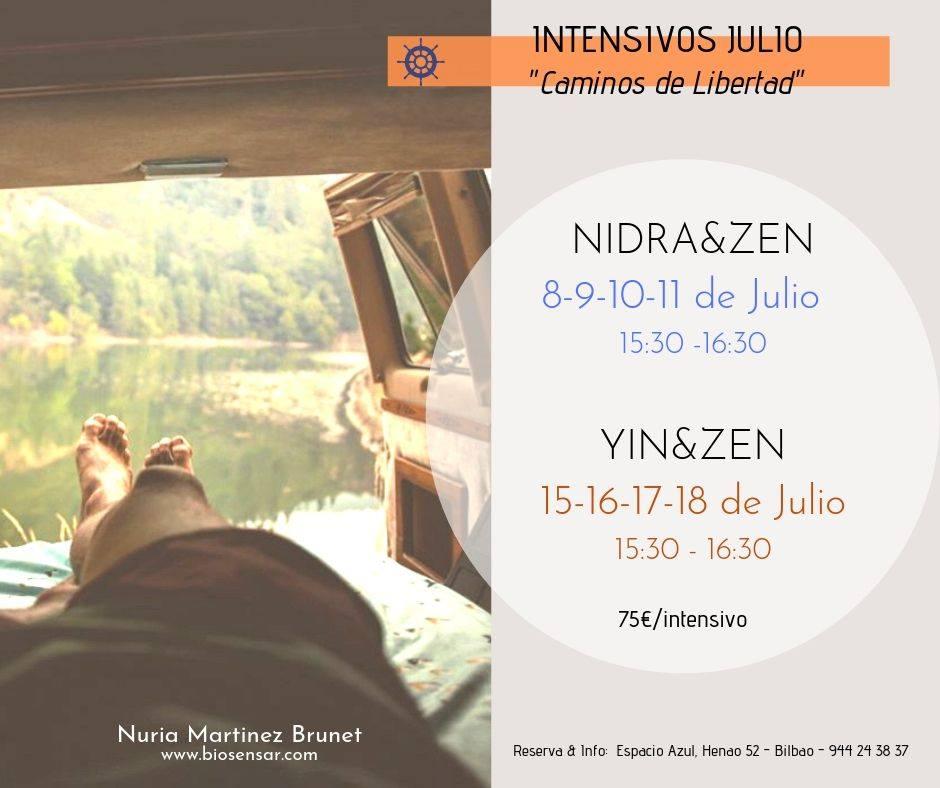 Intensivos de Zen y Yoga en JULIO con Nuria Martinez Brunet